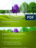 Psycholinguistics Introduction