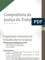 Competencia da Justiça do Trabalho