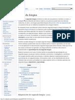 Segunda Lengua - Wikipedia, La Enciclopedia Libre