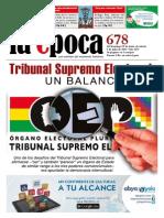 Nº 678 - Tribunal Supremo Electoral + Entrevista al chileno Rodrigo Ruiz