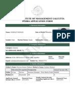 PGDBA Application Form
