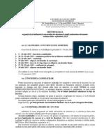 Metodologie Admitere Master 2015