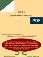 Tema 7 Canales de Distribución