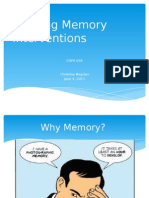 interventions for working memory
