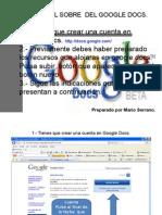 Tutorial Para Subir Un Documento a Google Docs
