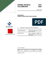 224604692 NTC 4005 Acero Estructural Para Puentes