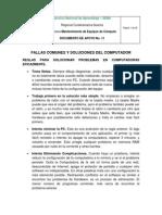 Documento de Fallas para Resolucion de Problemas Comunes