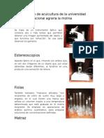 Laboratorio de Acuicultura de La Universidad Nacional Agraria La Molina