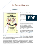 Cataloging the Torture of Lawyers in China
