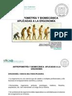 Antropmetría y Biomecánica Aplicadas a La Ergonomia - Presen