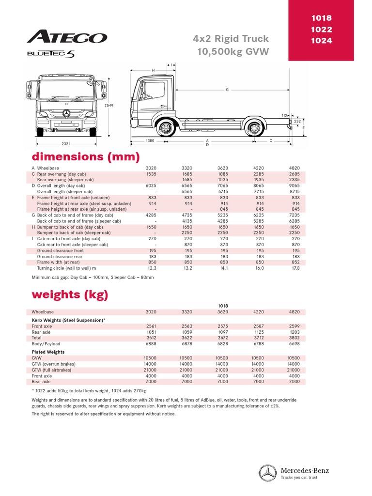 Atego 4x2 Rigid 1018 1024 Fuel Injection Diesel Engine Mercedes Benz Wiring Diagram