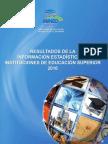 Resultados de La Informacin Estadstica de Instituciones de Educacin Superior 20100