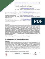 Principales métodos de desulfurización de Biogás