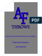 Air Force Academy Throwers Manual 2015-2016