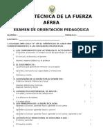 CUESTIONARIO ORIENTACION PEDAGOGICA