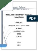 Rescates e Incidentes Paramedicos - Claudio Riera