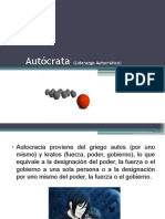 Autócrata Liderazgo Autocrático