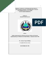 Politica Institucional Del Sector Salud