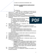 Lineamientos Para La Presentación de La Planificacion 2015