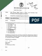 MEMORANDUM - VISA APPLICATIONS