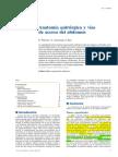 Anatomía quirúrgica y vías de acceso del abdomen