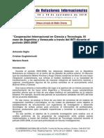 Cooperación Internacional en Ciencia y Tecnología. Argentina y Venezuela INTI 2003-2008