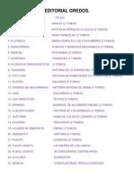 Editorial Gredos