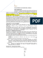 reglamentación de uso de suelos