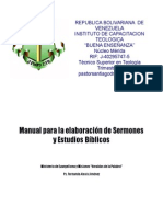 TST v Elaboracion de Sermones