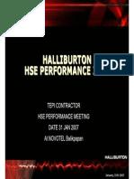 Halliburton HSE