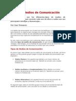 Tipos de Medios de Comunicacióntipos de comunicacion