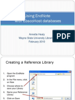EndNote and EbscoHost