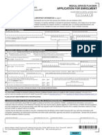 British Columbia Health InsuRance BC Medical Service Plan Application for Enrolment