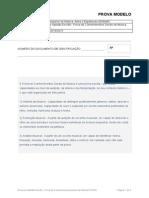 Prova Modelo 2014 - Prova de Aptidao Escrita - Prova de Conhecimentos Gerais de Musica (PCGM)