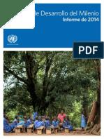 Objetivos de Desarrollo Del Milenio ONU 2014