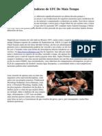 10 Dos Maiores Lutadores de UFC De Mais Tempo