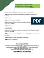 Programa Curso Del Analizador Cuantico y Nutrición Ortomolecular Aplicada, 1era. Etapa y 2da. Etapa