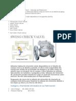 Tipos de Valvulas Check
