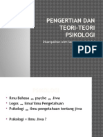 2. Pengertian Dan Teori-Teori Psikologi