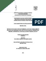 MÉTODO HISTOLÓGICO PARA DETERMINAR LA DATA DE CONGELAMIENTO ARTIFICAL EN CADÁVERES EN EL INSTITUTO DE CIENCIAS FORENSES DEL TRIBUNAL SUPERIOR DE JUSTICIA DEL DISTRITO FEDERAL EN 2013