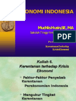 Ekon Indonesia Tm 6 Kerentan Krisis Ek 15