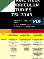 Tutorial Week 3- Curriculum Studies