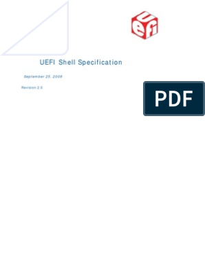 UEFI Shell Specification | Command Line Interface