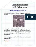 the Common Source Amp With Active Loads Lecture