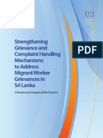 Grievance mechanism for Migrant workers by ILO
