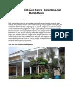 Dijual Rumah Di Alam Sutera - Butuh Uang Jual Rumah Murah - www.rumahku.com