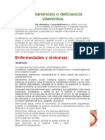 La Avitaminosis o Deficiencia Vitamínica