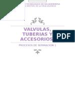 Valvulas, Tuberias y Accesorios