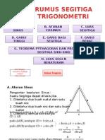 Rumus-rumus Dalam Segotoga Trigonometri