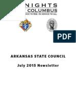 Arkansas Knights of Columbus Newsletter July 2015